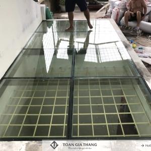 Công trình sàn kính cường lực nhà A Thái ngõ 85 Định Công- Hà Nội