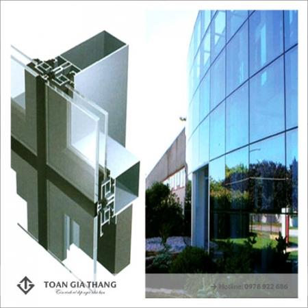Công trình kính vách dựng khu đô thị Thanh Hà